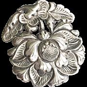 Antique 800 Silver Art Nouveau Clip