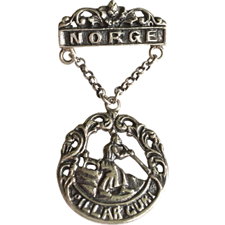 Antique Norwegian 830 Silver Brooch by H. C. Ostrem