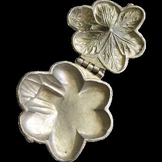 Antique Pewter Ice Cream Lily Pad Mold #449- T. Mills & Bros - Circa 1851