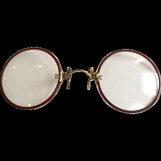 Vintage G.F. SHUR-ON Pince Nez Eye Glasses