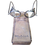 Vintage Willson Steam Punk Style Goggles