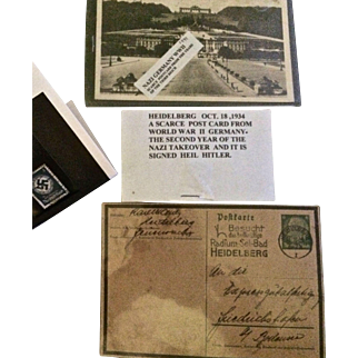 Historical German WWII Postcards and Stamps 1934