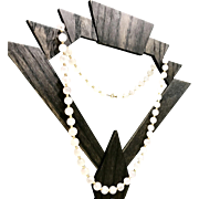 Unique Vintage 1940s Mid Century Rare Pink Jadeite Jade Stone and 14 Karat Gold Beaded Necklace That is 23.25 Inches in Length