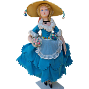 """Italian  Lenci doll  from 1921 , about 24"""" tall (61 cm)"""
