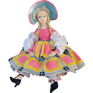 """Italian Vintage  Lenci doll about 25"""" tall ----- REDUCED PRICE"""