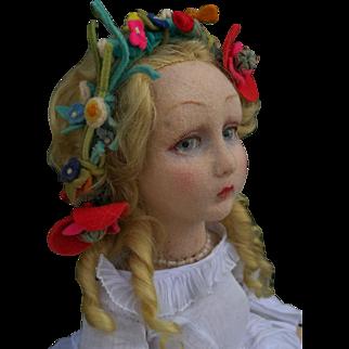 Wonderful italian Lenci Doll , about 27 inches (68cm)