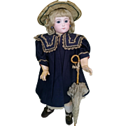 "Wonderful stunning  ""TRISTE"" Jumeau doll , size 11 , about 25 inches (63 cm)"
