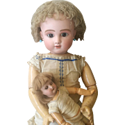 Stunning antique bisque doll Steiner series  C4 . All Original , 1880 , perfect bisque head