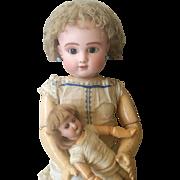 Stunning antique bisque doll Steiner series  C4 . All Original , 1880 , perfect bisque head