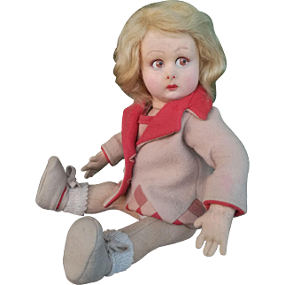 Very sweet Lenci doll , series 2000 , high 12, 5 inches (32 cm).