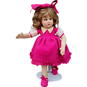 All original Lenci doll , series 111 , high 13 inches (34 cm).