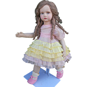 Very nice and gorgeous italian Lenci Felt doll , seires Laura , about high 17 inches ( 42 cm )