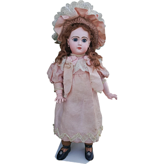 """Beautiful and rare French Bisque Doll """"BeBe Reclame"""" by Jumeau , high about 21/22  inches (55 cm)"""