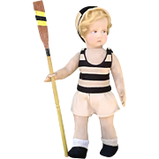 From the Lenci Sport Series: the Rower Lenci antique cloth doll