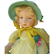Adorable Lenci doll , 109 series . She is high about 23 inches