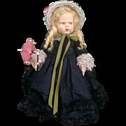 "Rare wonderful Lenci doll series 1500 ""Grugnetto"" (Grumpy) , complete with her original box , 1929"