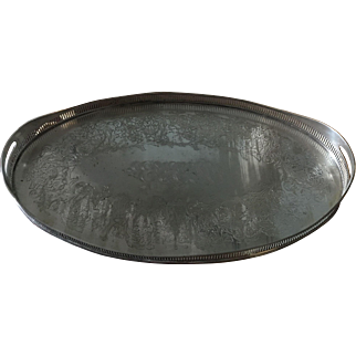 Silver plate large tray