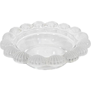 Vintage Lalique Frosted Glass Shell Bowl or Dish