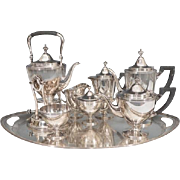 An Eight Piece Tiffany & Co. Makers Sterling Silver Complete Tea Set