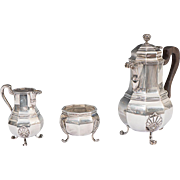 A Tiffany & Co. Sterling Silver Three Piece Tea Set