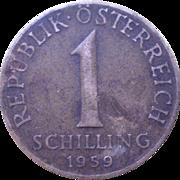 Austria 1schilling 1959