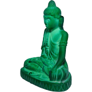 Malachite glass Buddha, 1935, Curt Schlevogt