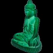 Malachite glass Buddha, 1935, Curt Schlevogt