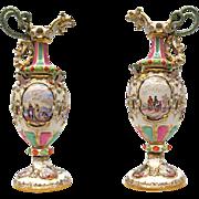 Pair of vases - 19th century Meissen, Germany