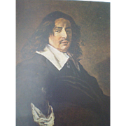 Old Print Painting by Frans Hals - Portrait of a Man