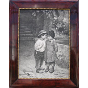 Children - print in the frame, M. Wunsch