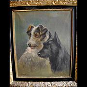 Terriers - Rudolf Jasensky, Jewish painter (1905 - 1945), Bohemia
