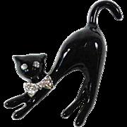 Art deco cat brooch.