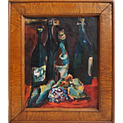 Still Life with Bottles - Marcel Poucet (France)