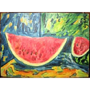 Still life with melon, 1972