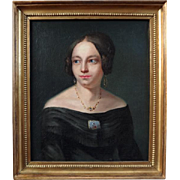 Lady with Brooch, 19th Century