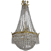 Crystal glass chandelier, 19th century