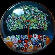 Murano signed paperweight - Tree