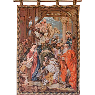 Tapestry - Adoration of the Three Kings according to Rubens - 19th Century, France