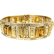 Art deco golden bracelet with citrine, 1940