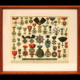 Chromolithograph - Honors 1890