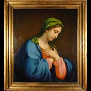 Madonna - Italian painting school of the 18th century.