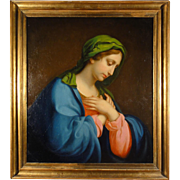 Madonna - Italian painting school of the 18th century.