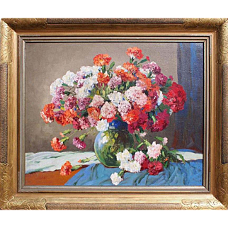 Carnations in the vase