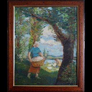 Laundress - Impressionism