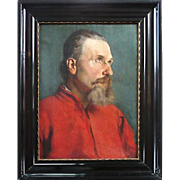 Man in red shirt, 19th century, Russia