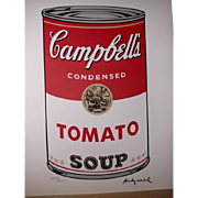 Andy Warhol: Campbell's soup TOMATO, signed print