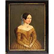 Portrait of lady biedermeier, Germany