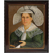 Portrait of a lady in a hat.