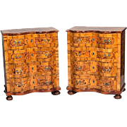 Pair baroque chests of drawers