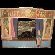 Scheiner Puppet theater, scenes,  9 puppets